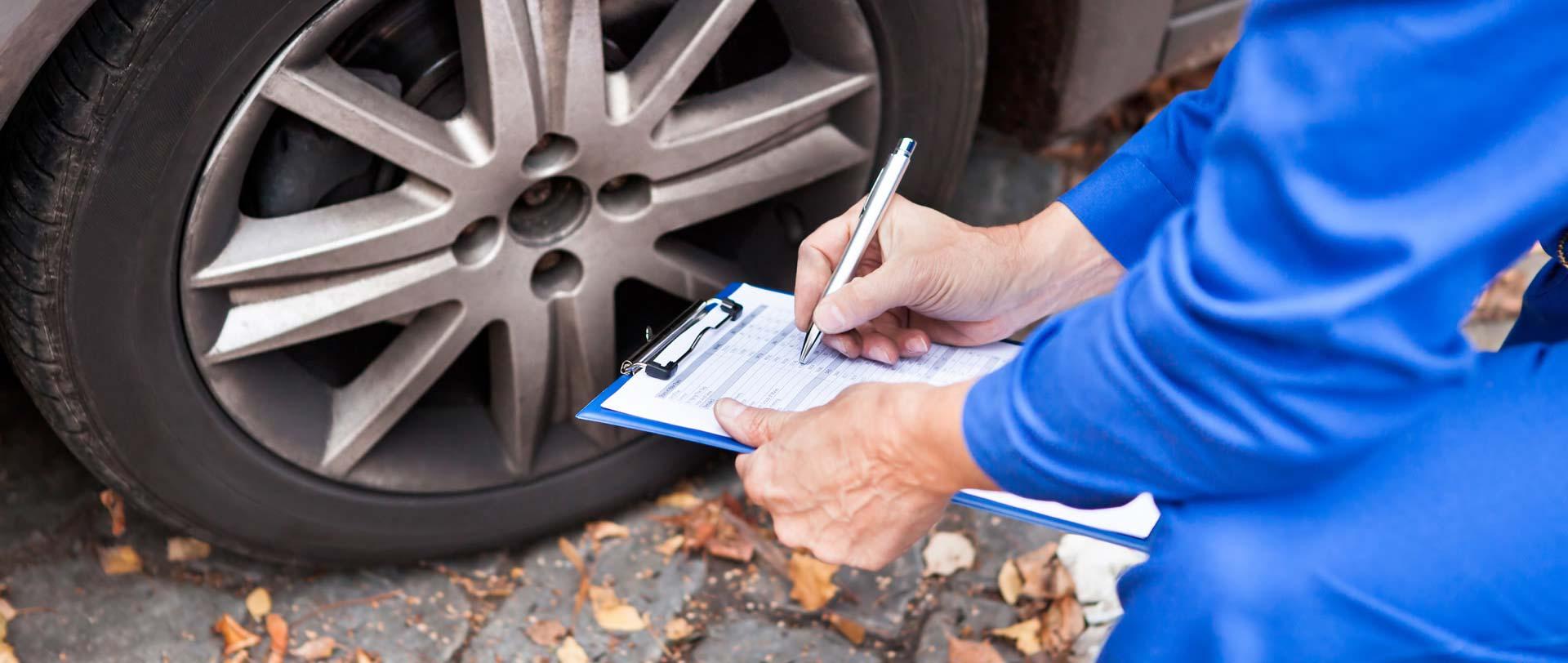 photo of car service paperwork